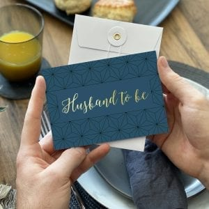 Husband Gold Foil Wedding Card - Designed by Rodo Creative