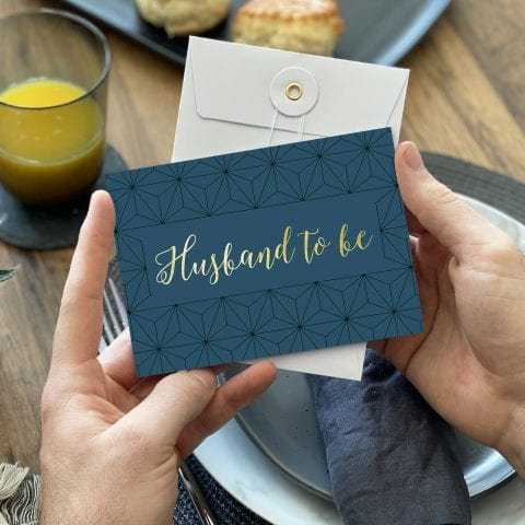 Husband Gold Foil Wedding Card - Designed by Rodo Creative