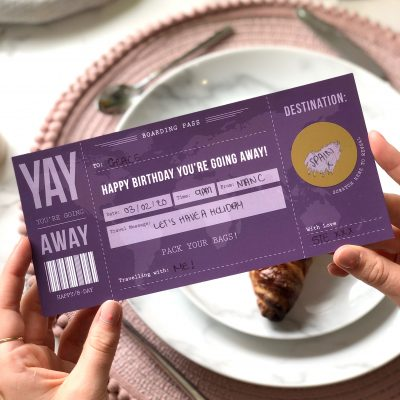 Birthday Scratch Off Boarding Pass - Designed by Rodo Creative