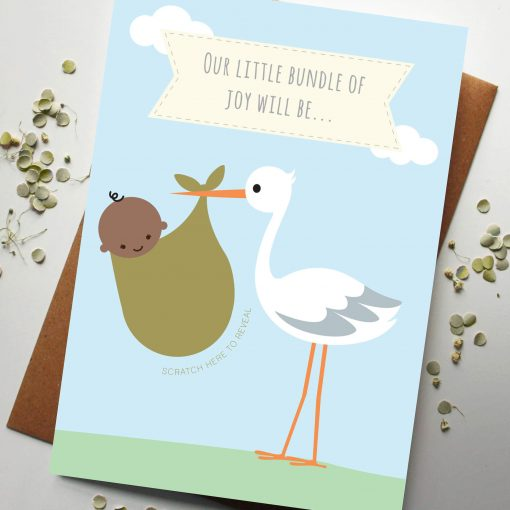 Gender Announcement baby card - designed by rodo creative