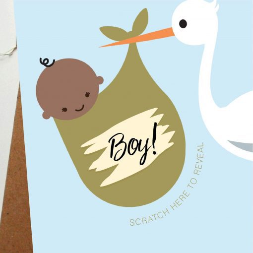 Baby Announcement gender card - designed by rodo creative