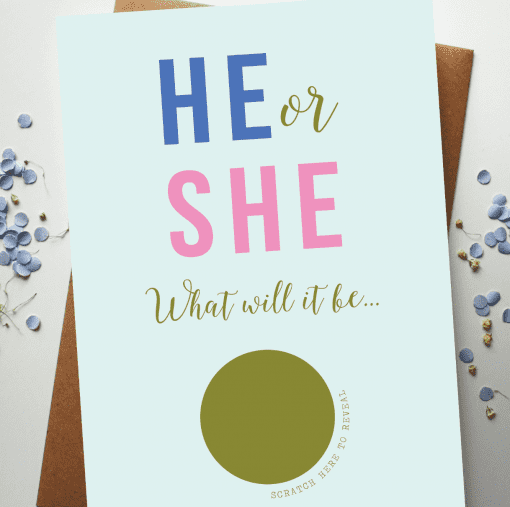 Scratch Off Baby Announcement Card designed by Rodo Creative in Manchester