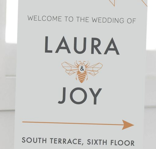 Geometric Welcome Sign - Designed by Rodo Creative