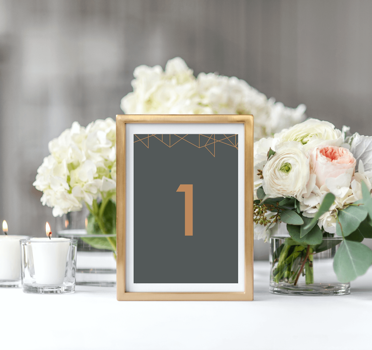 Geometric Table Numbers - Designed by Rodo Creative