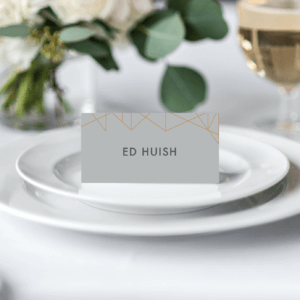 Geometric Place Cards - Designed by Rodo Creative