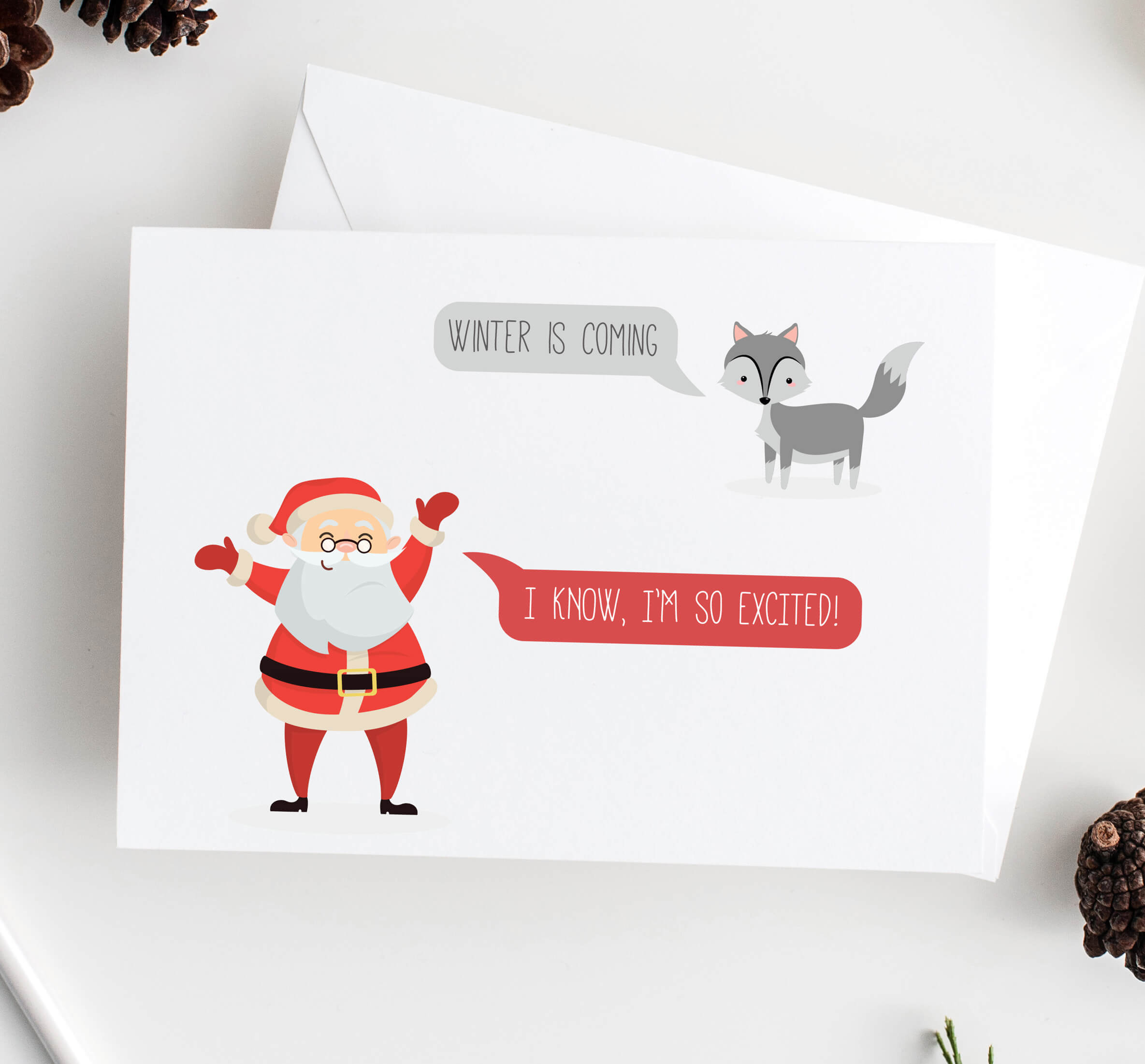 Game of Thrones winter is ing Christmas Card Rodo Creative