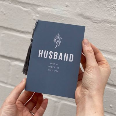 Festival Husband Christmas Card with Mistletoe - Rodo Creative Manchester