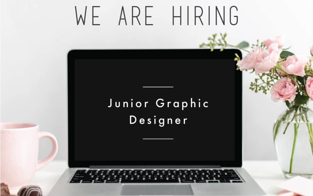 we are hiring a junior graphic designer