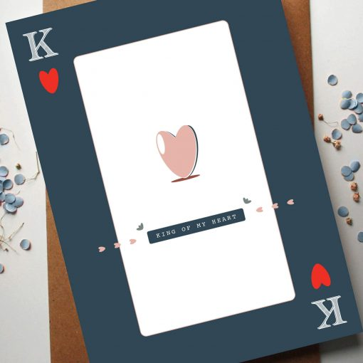 King of My Heart Card - Designed by Rodo Creative - Based in Manchester