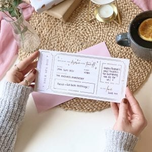 Spa Day Treatment Ticket Gift - Designed by Rodo Creative