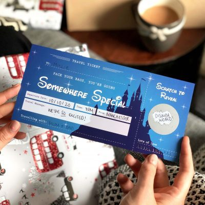 Disney surprise Scratch Off Travel Ticket - Designed by Rodo Creative