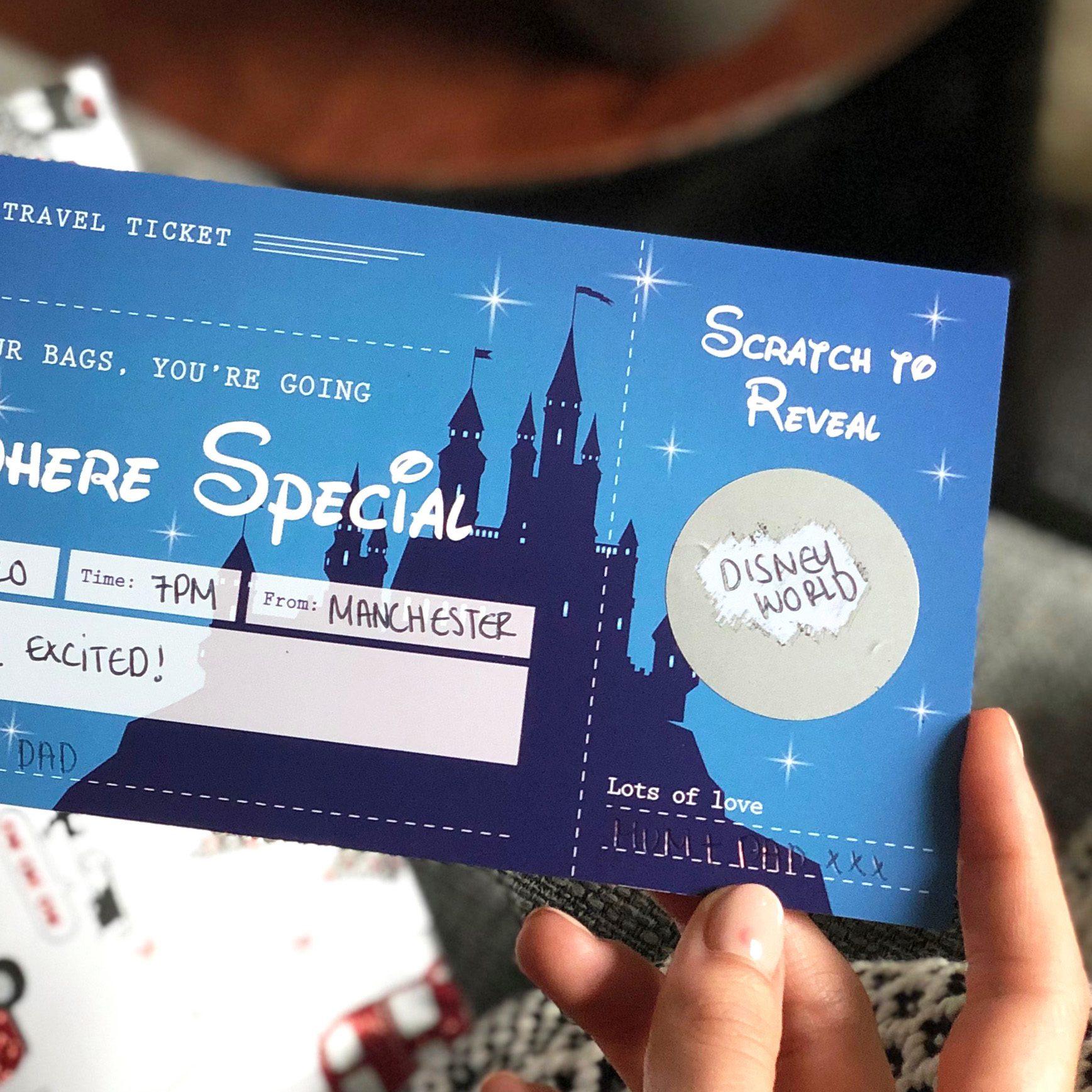 Disney Surprise Scratch Off Ticket - Designed by Rodo Creative