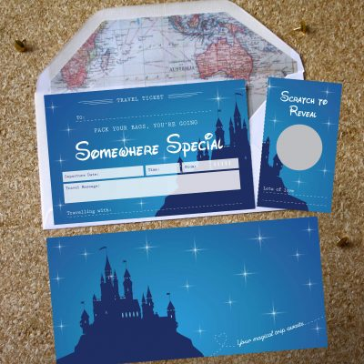 Disney Surprise Scratch Off Ticket design by Rodo Creative in Manchester