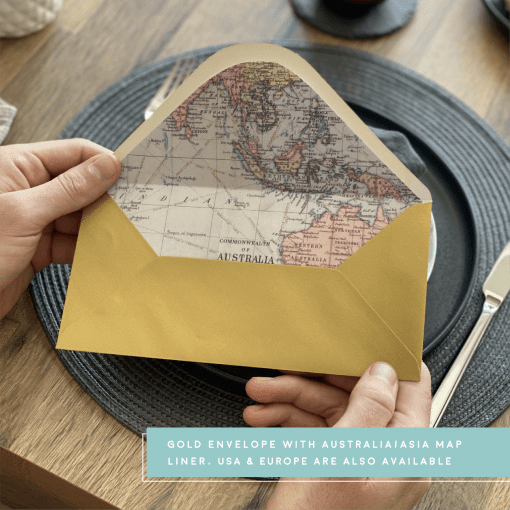 Rodo Creative AISA envelope liner - gold