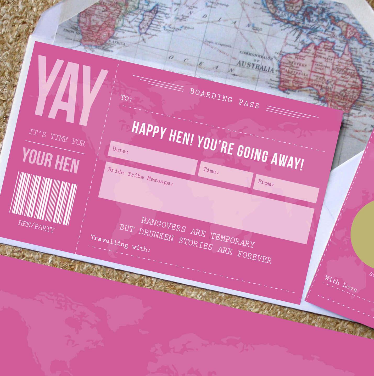 Hen Party Scratch Off Boarding Pass Designed By Rodo