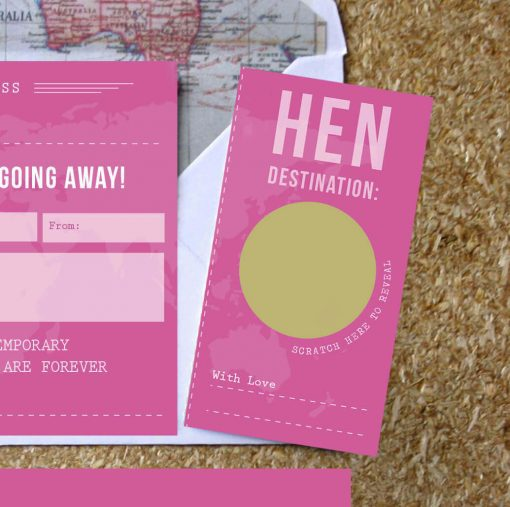 Hen Party Scratch Off Boarding Pass by Rodo Creative, Manchester