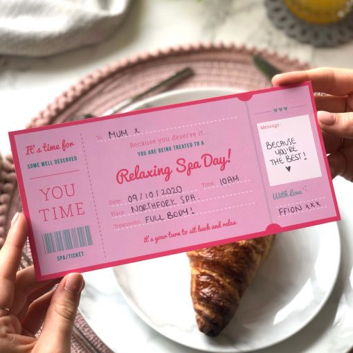 Spa Day Treatment Ticket Gift designed by Rodo Creative in Manchester
