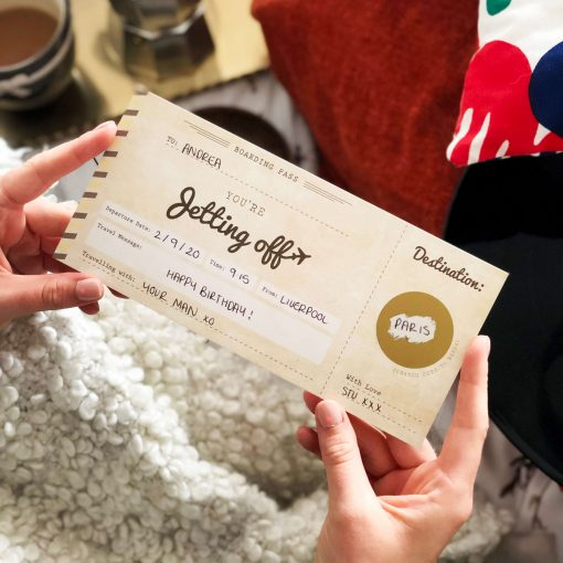 You're Jetting Off Scratch Off Boarding Pass - Designed by Rodo Creative