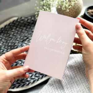 Pink 'Will You Be My Maid Of Honour' Card - Designed by Rodo Creative