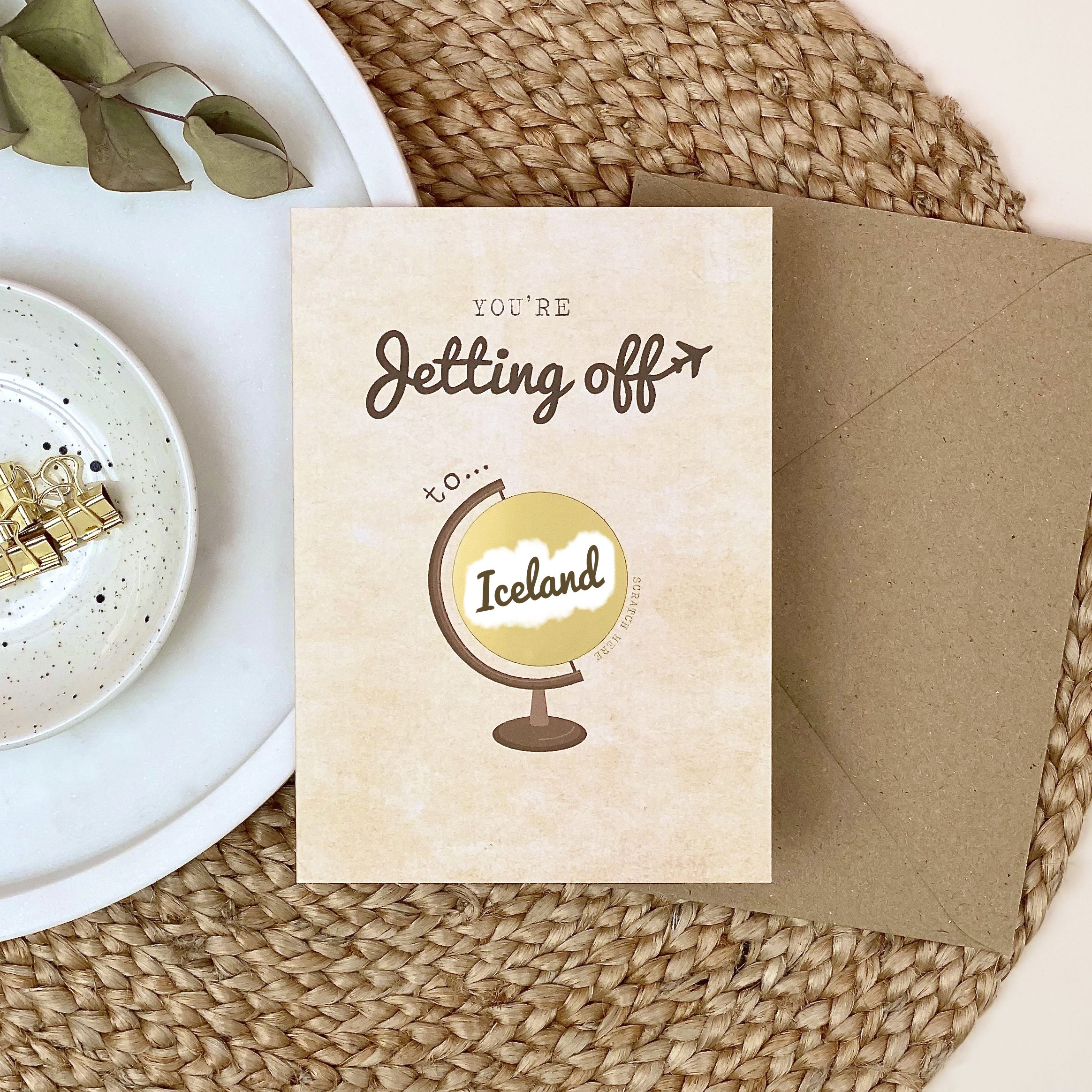 Travel Card Jetting Off Surprise Scratch Off - Designed by Rodo Creative