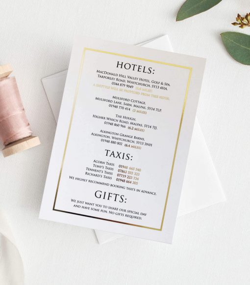 Modern Gold Foil Wedding Invitations designed by Rodo Creative