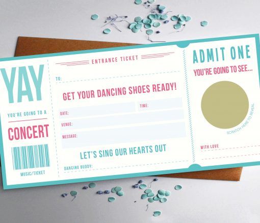 Scratch off Music ticket by Rodo Creative