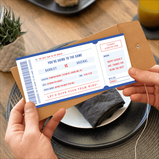 Surprise Game Ticket - Designed by Rodo Creative