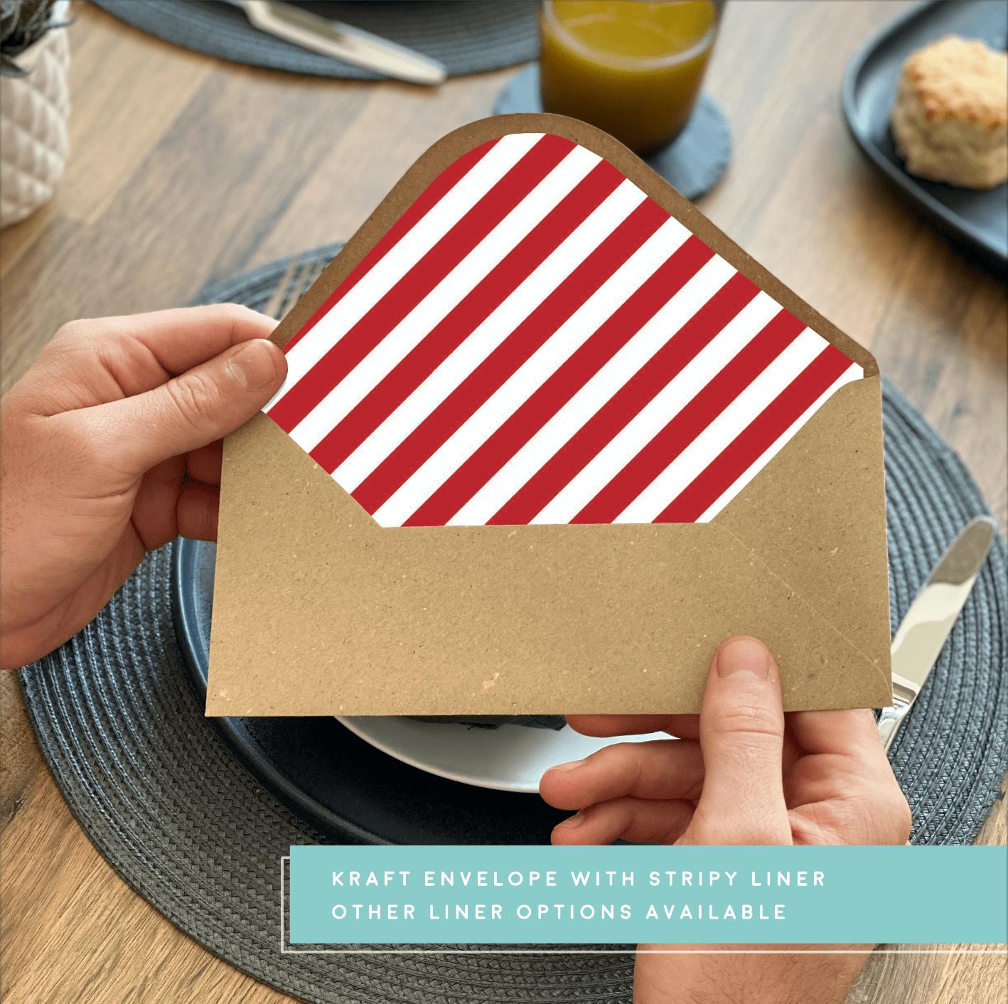 Rodo Creative Stripy envelope liner - Kraft