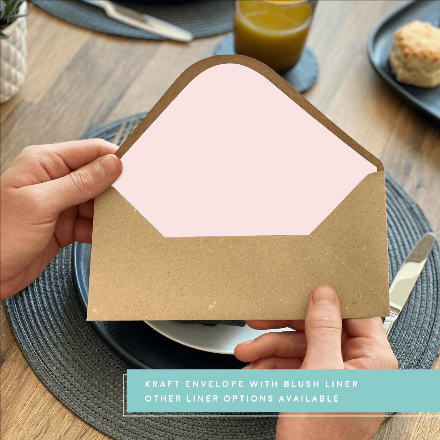 Rodo Creative Blush envelope liner - Kraft