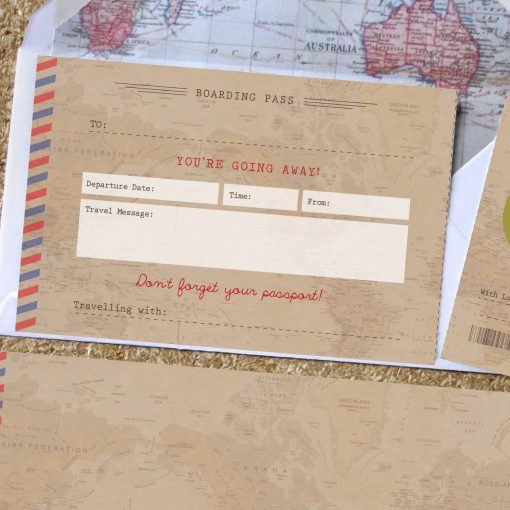 Vintage scratch off travel ticker gift designed by Rodo Creative