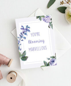 You're blooming marvellous mothers day card by Rodo Creative