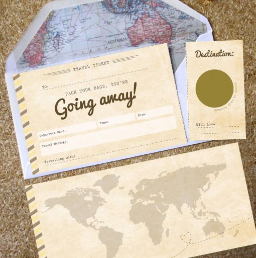 You're going away scratch off boarding pass designed by Rodo Creative in Manchester