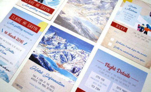 Ski Pass Lanyard Wedding Invitations Designed by Rodo Creative