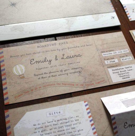 Phileas Fogg Boarding Pass Invitations - Designed by Rodo Creative