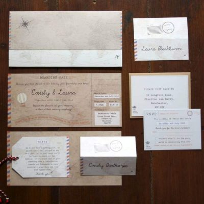 Phileas Fogg Boarding Pass Invitations - Designed by Rodo Creative