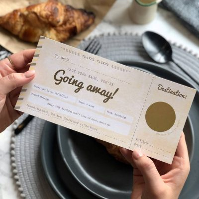 You're Going Away Scratch Off Boarding Pass - Designed by Rodo Creative