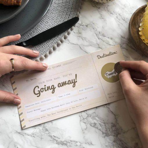 You're Going Away Scratch Off Boarding Pass designed by Rodo CreativeYou're Going Away Scratch Off Boarding Pass designed by Rodo Creative