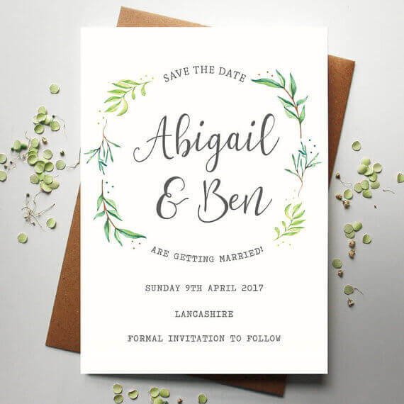 Watercolour Botanical Save the Date - Designed by Rodo Creative