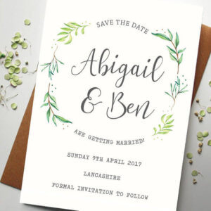 Botanical Save the Date - Designed by Rodo Creative
