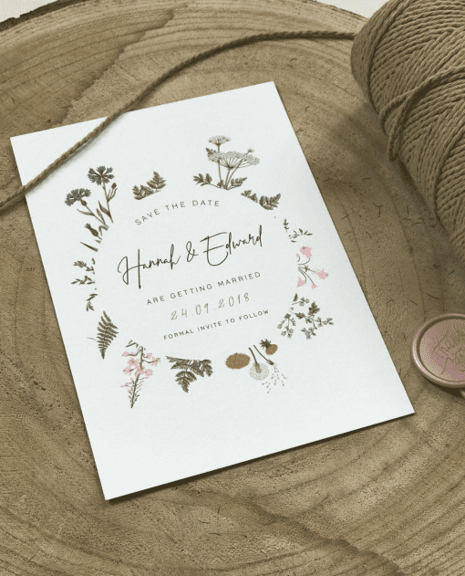 Botanical Garden Save the Date Card - Designed by Rodo Creative