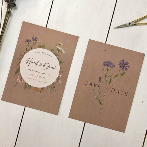Botanical Save the Date - Designed by Rodo Creative in Manchester