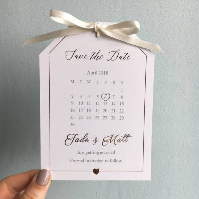Gold Foil Save The Date Tag - Designed by Rodo Creative
