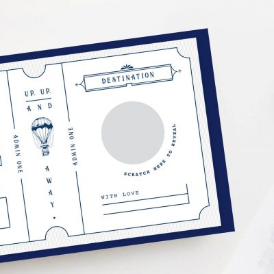 Bon Voyage Vintage Scratch Off Boarding Pass - Designed by Rodo Creative
