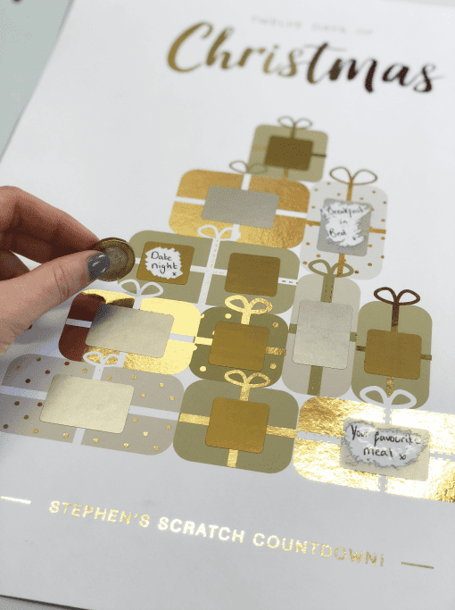 Scratch Off Advent Calendar designed by Rodo Creative