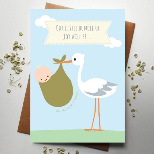 Scratch Off Baby Gender Announcement Card - Designed by Rodo Creative