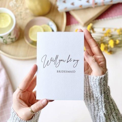 Grey Laid Bridesmaid Card - Designed by Rodo Creative