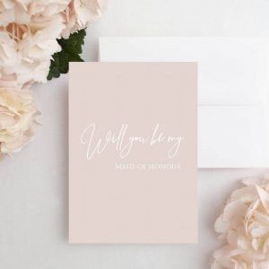 Pink Will You Be my maid of honour Card - Designed by Rodo Creative in Manchester