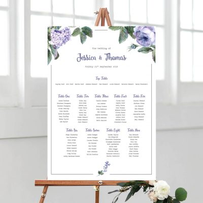 Wild Roses Table Plan - Designed By Rodo Creative in Manchester