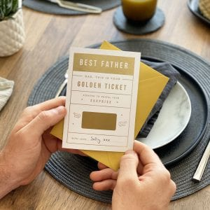 Dad's Golden Ticket Card - Designed by Rodo Creative