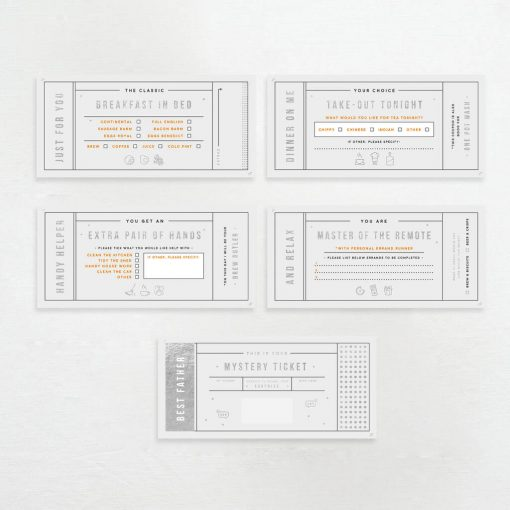 Coupons For The Best Dad for Father's Day - Designed by Rodo Creative